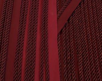 "30 yds. 3/16"" twisted maroon lip cord trim"