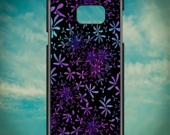Batik Purple Floral Design for Samsung Galaxy Note 3, Samsung Galaxy Note 4, Samsung Galaxy Note 5, Electronic Phone Case