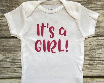 It's a Girl, Baby Girl Onesie, Baby Shower Gift, Baby Girl Gift, Infant Clothing, Cute Baby Gift, Newborn Onesie