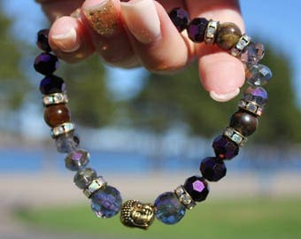 Black Jasper Grounding Buddha Energy Stone Bracelet