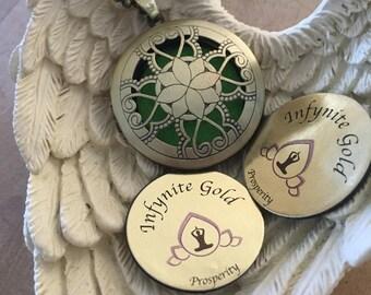 Prana-Intelligence Necklace.. holographic imprinted