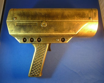 Steampunk Inspired Hand Painted Lighted Metal Ray Gun