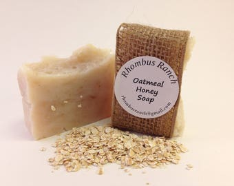 Oatmeal Honey Tea Tree Essential Oil Hot Process Soap