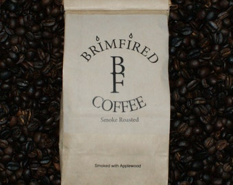 16 oz Applewood Smoke Roasted Coffee  One Pound Columbian Supremo Bean Coffee BrimFired Coffee, LLC. OHIO Sales ONLY Sorry