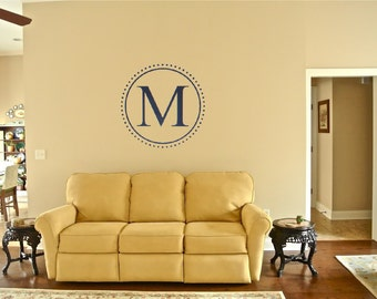 Custom Circle Initial-Personalized Monogram Wall Decal