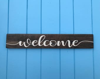 Welcome Sign -  Rustic Wood Welcome Sign - Front Door Welcome Sign - Rustic Welcome Sign - Gifts for Her - Porch Sign