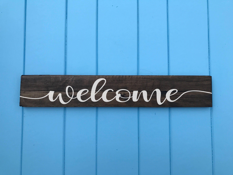 🔎zoom & Welcome Sign Rustic Wood Welcome Sign Front Door Welcome Pezcame.Com