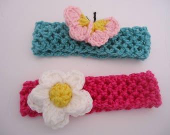 On Sale Baby headbands,  Crochet Headbands for baby, Ready to ship baby headbands