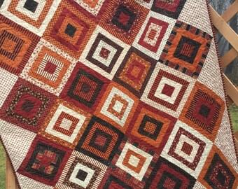 Autumn quilt   Etsy : fall quilt - Adamdwight.com