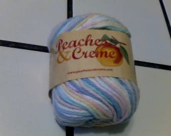 Multi color pastel yarn by Peaches and Cream