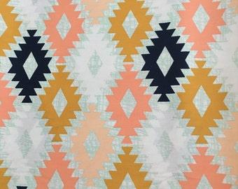 Arizona Fabric, Triangle blue gold and blank