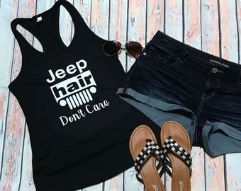 Jeep Hair Don't Care, Jeep Tank, Tank, Womans Tank, Jeep
