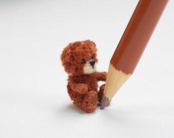 Miniature crochet bear, tiny bear, Amigurumi tiny Animals, Dolls House Toys