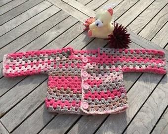 PDF crochet pattern, baby/kids jackets Gr. 62/68, 74/80, 86/92
