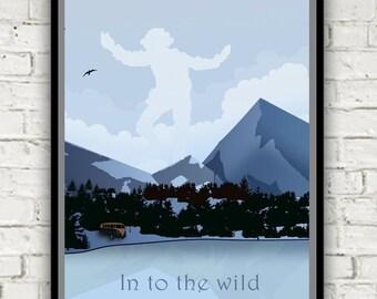 Landscape print - Into the wild