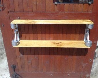 Pistons shelf / wood  art /  metal art / inerior / gift