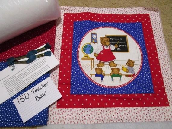 Teacher Bear - Pillow Quilt Kit