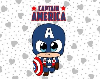 "Avengers ""Captain America"" SVG File Cutting File Vector. Cricut Explore & More"