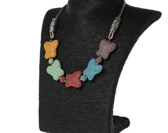 """Paper & PVC Jewelry Bust Necklace Display Stand Black 22.5cm(8 7/8"""") x 20cm(7 7/8"""")"""