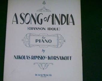 Rimsky-Korsakoff: A Song of India (Chanson Idoue) for Piano Arranged by M. Egen Sheet Music