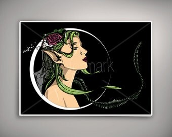 Gaia Mother earth (digital Download) A2 High Quality Print