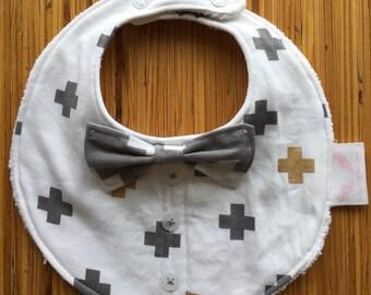 Boy Bow Tie Dribble Bib