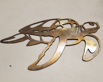 Stainless Steel Turtle - Plasma Art