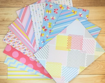 Set of 10 Patterned Happy Mail Envelopes