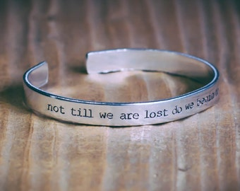 Not Till We Are Lost Do We Begin To Find Ourselves / Literary Gift / Inspirational Quote Jewelry / Thoreau Gift / Motivational Quote Jewelry