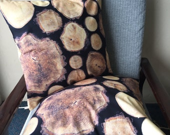 Timber Rounds IKEA Fabric Throw Pillow 18x18inch 45x45cm Cushion Cover