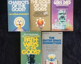 Set of 5 Ancient Aliens Chariots of The Gods Erich Von Danniken Books