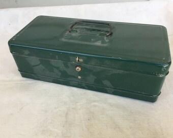 Vintage Retro Tool box Keepsake metal Box Boy's treasure box