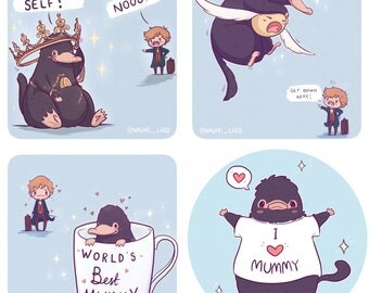Niffler Mischief Stickers! Fantastic Beasts and Where to Find Them