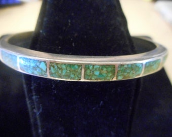 Nice Womens     STERLING SILVER,   TURQUOISE  Bracelet