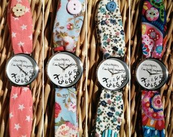 Female fabric watch. Watch WHATEVER. Female flower clock. Star watch. Original watch.