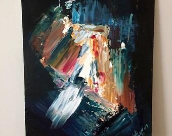 Splintered - Original Abstract Acrylic Painting on MDF Board