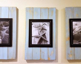 8 x 10 Rustic Wood Frame Set - 3 frames