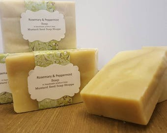 Rosemary Peppermint Soap Handmade cold process soap