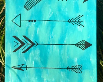 Abstract Arrows -Hand Painted Canvas