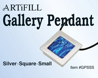 Gallery Pendant: Silver - Square - Small (8mm deep) #GPSSS