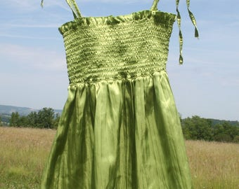 Top, tank top. Apple green top. Size s.  Bohemian, 90s French Vintage hippie top.