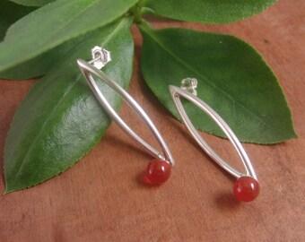 Carnelian Jewelry, Carnelian Earrings, Silver Earrings, Gift For Her, Gift for Mom, Gift for Best Friend,Gift for Girlfriend,Bridesmaid gift