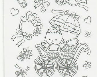 Baby Art Therapy Glitter Stickers Forever In Time Scrapbook Embellishments Cardmaking Crafts