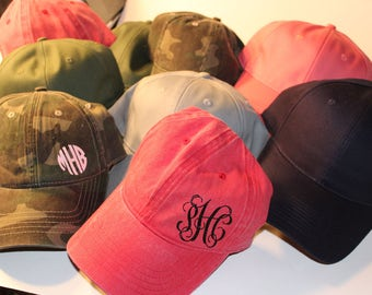 Monogram Baseball Caps