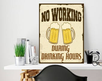 Funny sign, Beer sign, Custom metal sign, Decor sign, Metal sign art, Old decor sign, Metal art wall decor, Metal wall sign, Rustic wall art