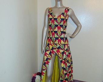 African Print Halter Dress