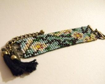 Almond Blossom Beaded Bracelet