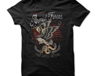 US ARMED FORCES T-shirt.U.S armed forces tee,armed forces t-shirt,armed forces supporters t-shirt,armed forces gift t-shirt,armed forces tee
