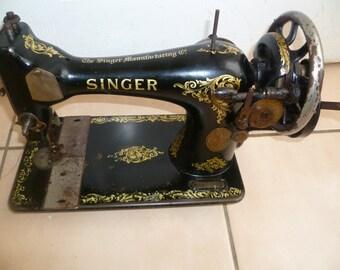 1912 Antique Singer Sewing Machine 28K Hand Crank