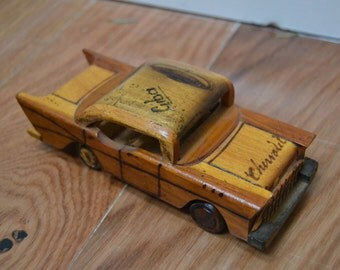 Wooden Chevrolet 1957 Bel Air / collectible toy / decorative model